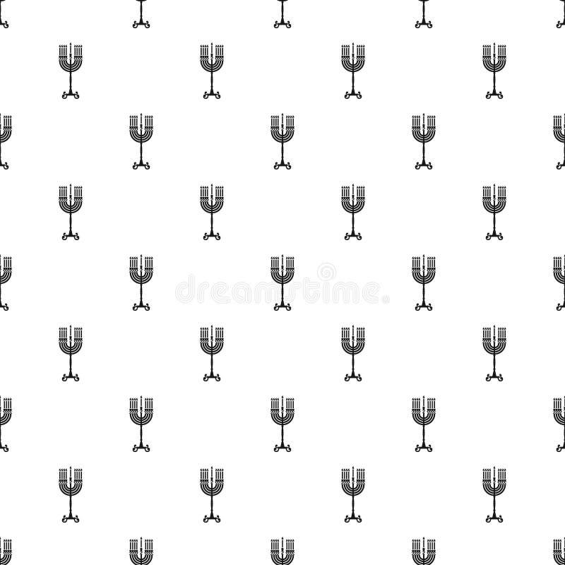 Vektor för modell för Chanukkahstearinljusställning sömlös stock illustrationer