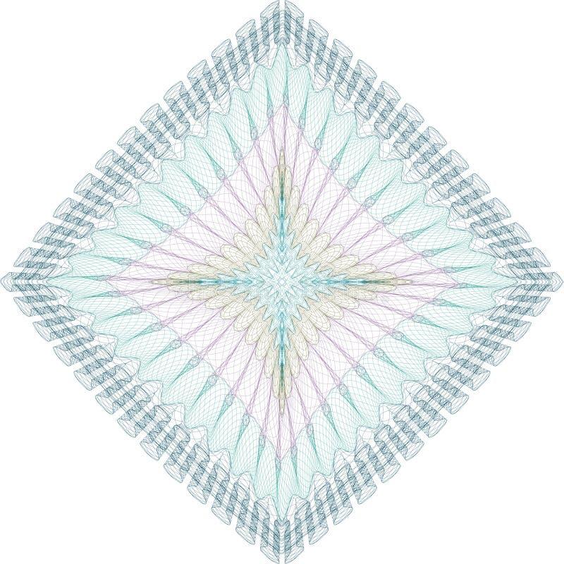 vektor för modell för guilloche för diplom för certifikatvalutadesign royaltyfri illustrationer