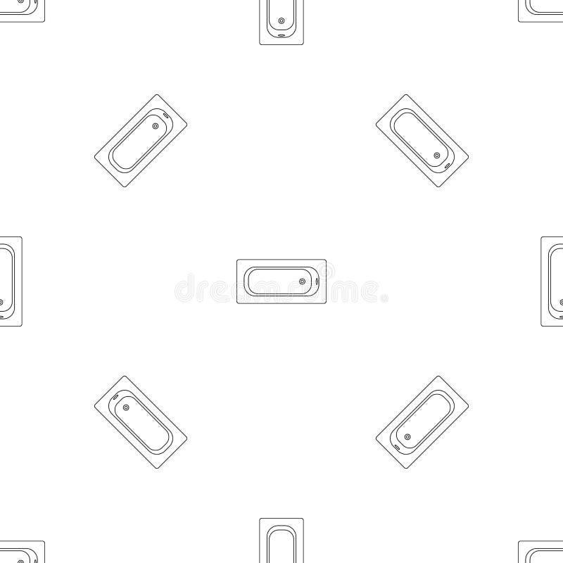 Vektor för modell för luftsiktsbathtube sömlös royaltyfri illustrationer