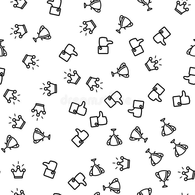 Vektor för modell för lyckönskanvinnare sömlös stock illustrationer