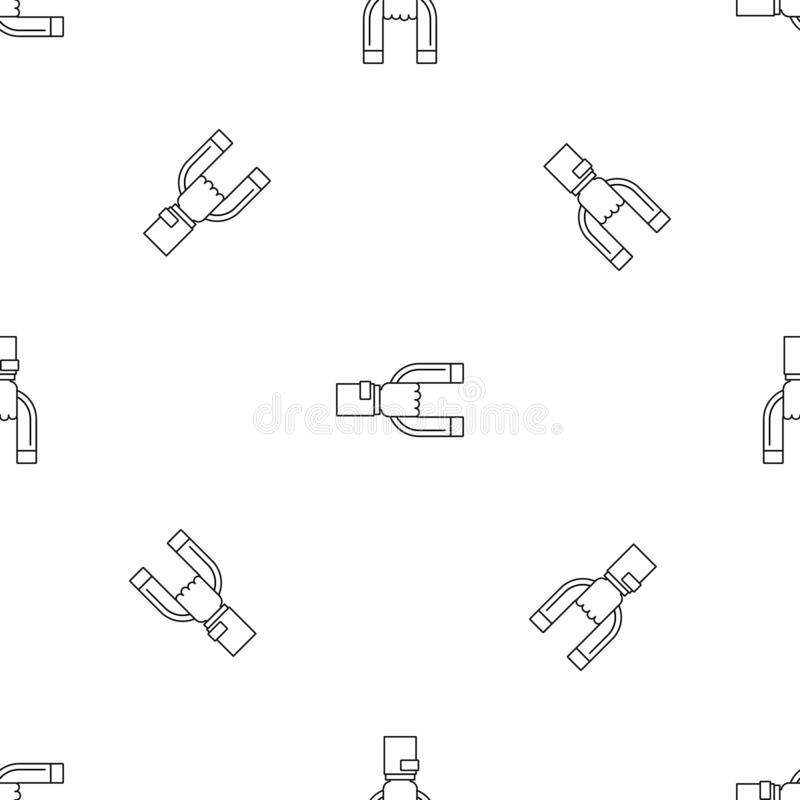Vektor för modell för magnetkundkvarhållande sömlös vektor illustrationer
