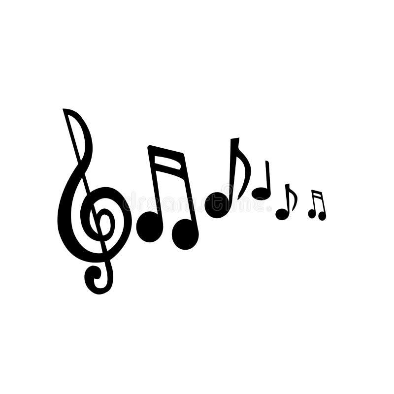 Vektor för musikaliska anmärkningar royaltyfri illustrationer