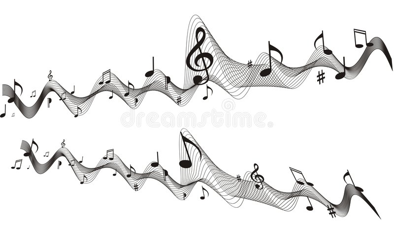 vektor för musikark stock illustrationer