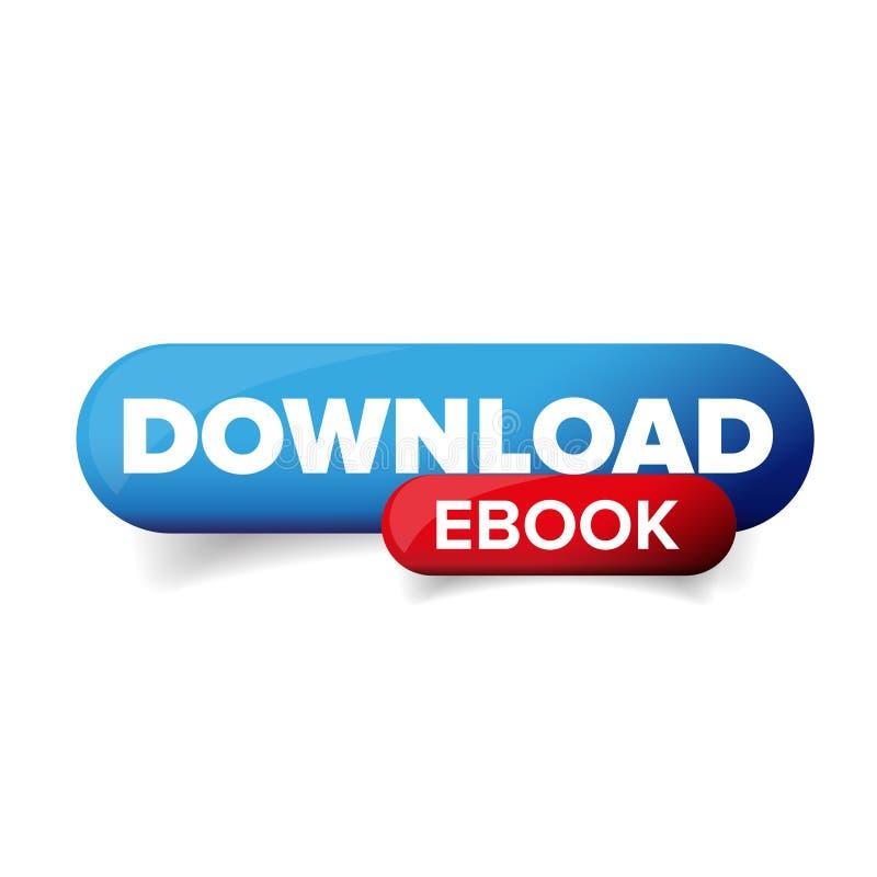 Vektor för nedladdningEbook knapp royaltyfri illustrationer