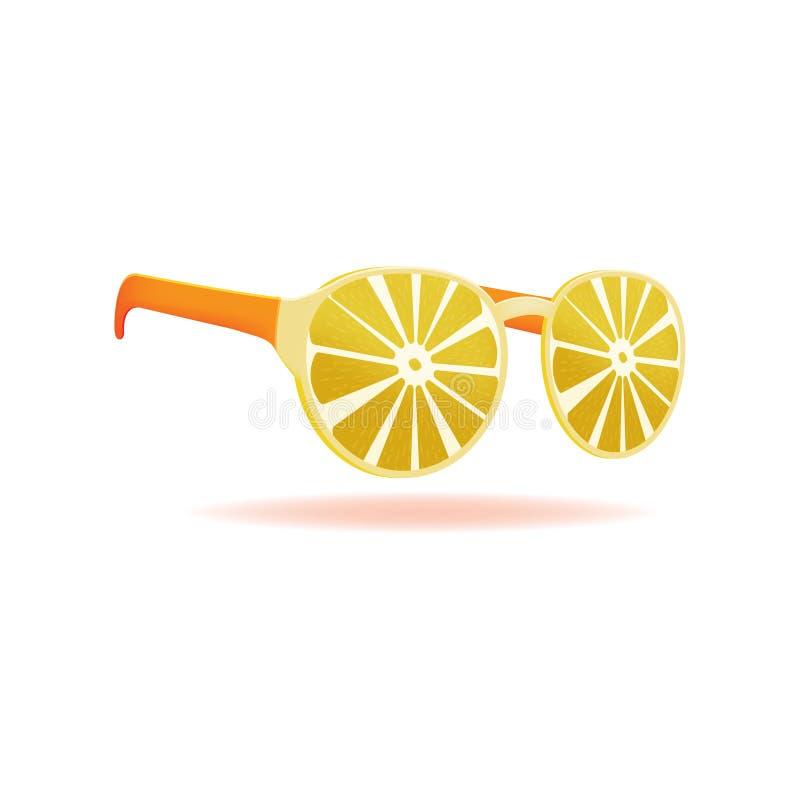 Vektor för objekt för design för citronsolglasögonsommar arkivbilder