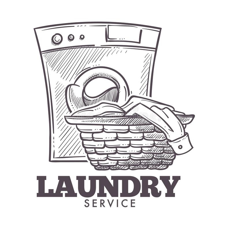Vektor för offentlig service för öppen dagstidning för tvättstuga daglig stock illustrationer