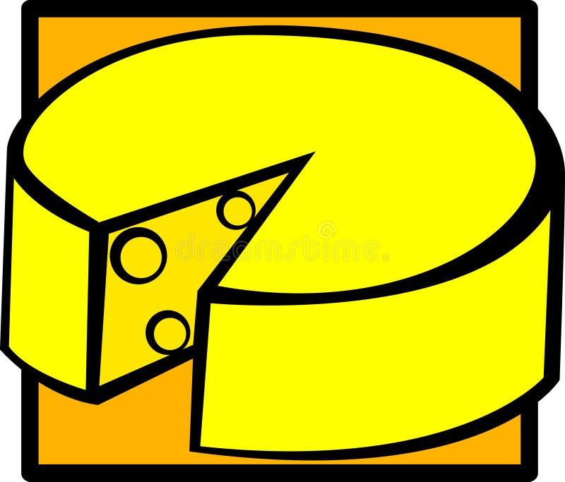 vektor för ostgruyereillustration royaltyfri illustrationer