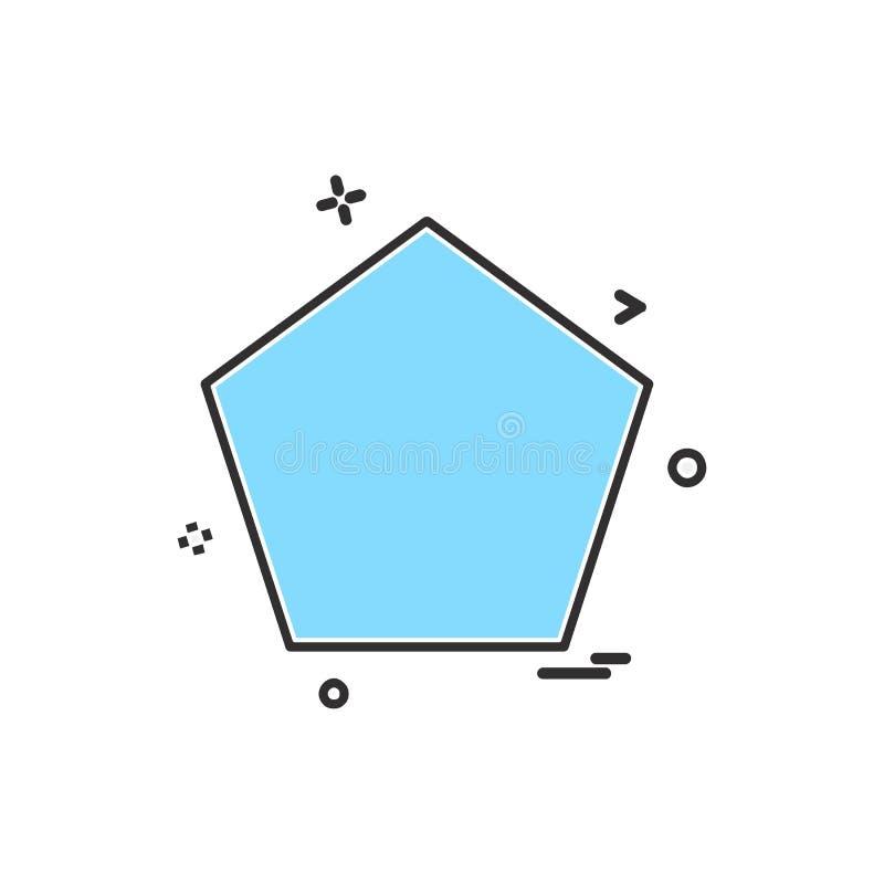 Vektor för Pantagon symbolsdesign vektor illustrationer