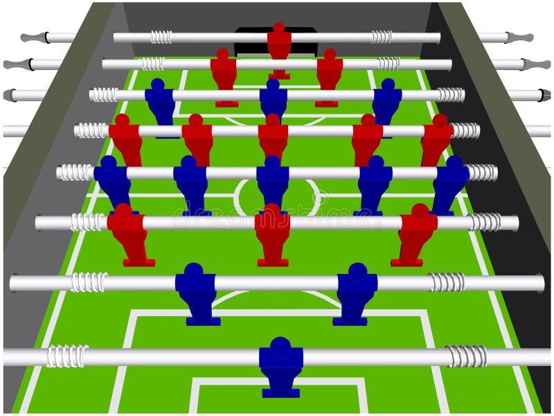 Vektor för perspektiv för lek för tabellfotbollfotboll vektor illustrationer