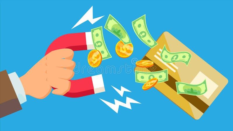 Vektor för Phishing pengarbegrepp Virus skräppost stjäla för pengar tecknad filmcommandertryckspruta hans illustrationsoldatstopw vektor illustrationer