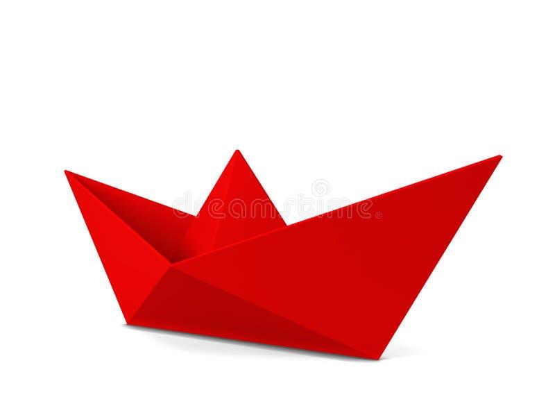 vektor för plan för papper för origami för fartygorienteringstillverkning royaltyfri illustrationer