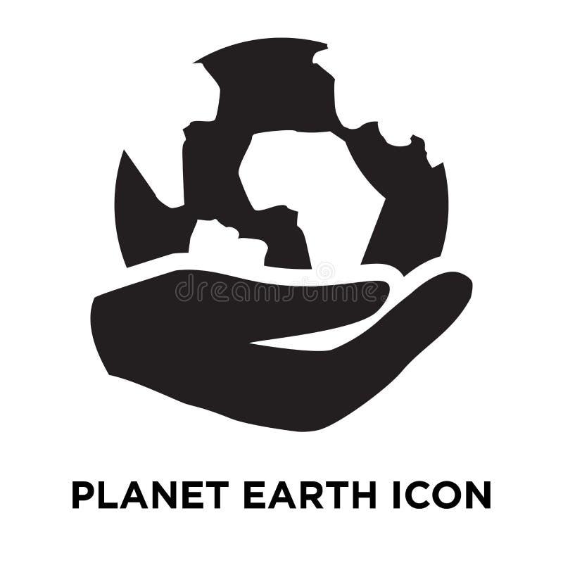 Vektor för planetjordsymbol som isoleras på vit bakgrund, conc logo vektor illustrationer