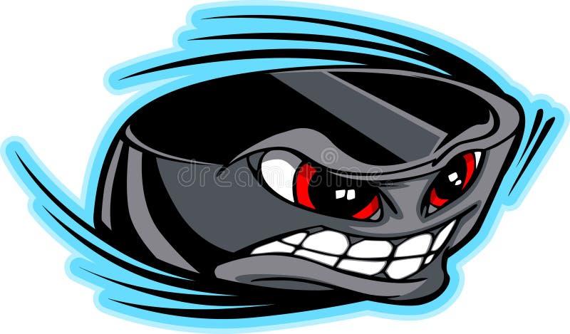 vektor för puck för framsidahockeybild stock illustrationer