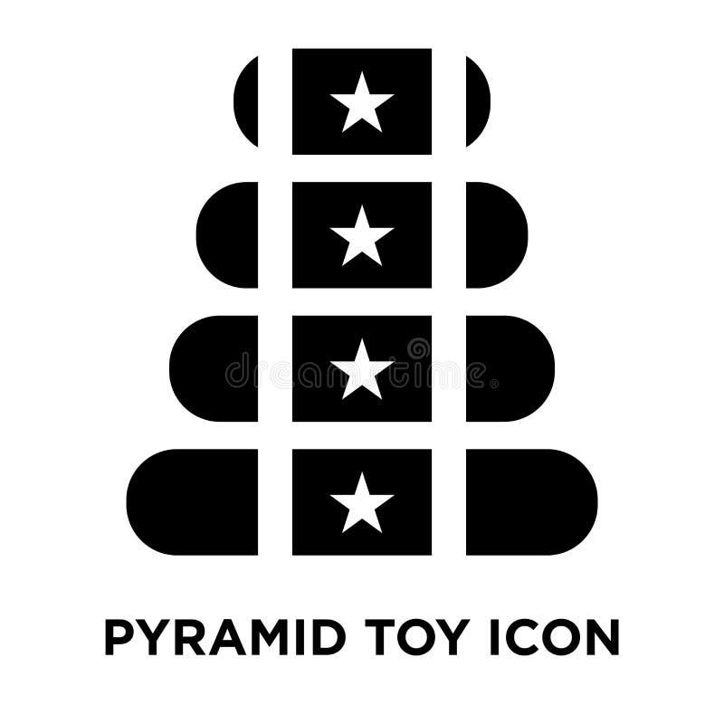 Vektor för pyramidleksaksymbol som isoleras på vit bakgrund, logoconce royaltyfri illustrationer