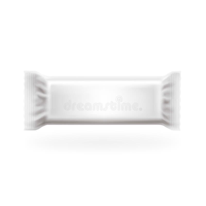 Vektor för räkning för plast- packestång medel Choklad, rån, sötsaker och godisen packar Lätt redigerbart i lager, specificerad h vektor illustrationer