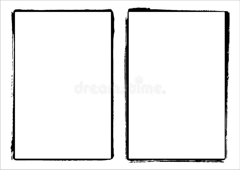 vektor för ram för kantkantfilm två vektor illustrationer