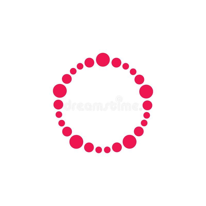 Vektor för ram för logo för cirkelvirvelprickar royaltyfri illustrationer