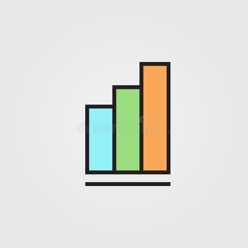 vektor för rapport för diagramsymbolsillustration Illustration på vit bakgrund för diagram och rengöringsdukdesign vektor illustrationer