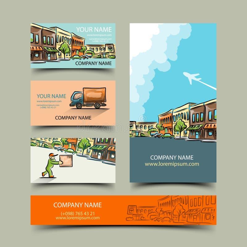 vektor för redigerbart format för affärskort set royaltyfri illustrationer
