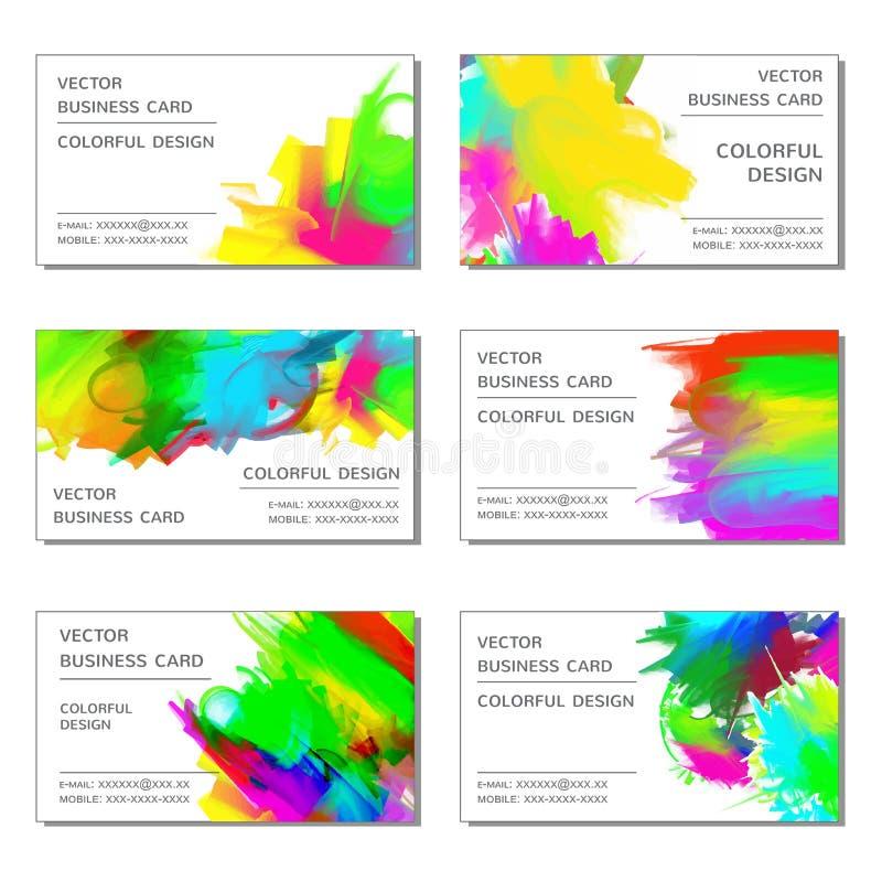 vektor för redigerbart format för affärskort set vektor illustrationer