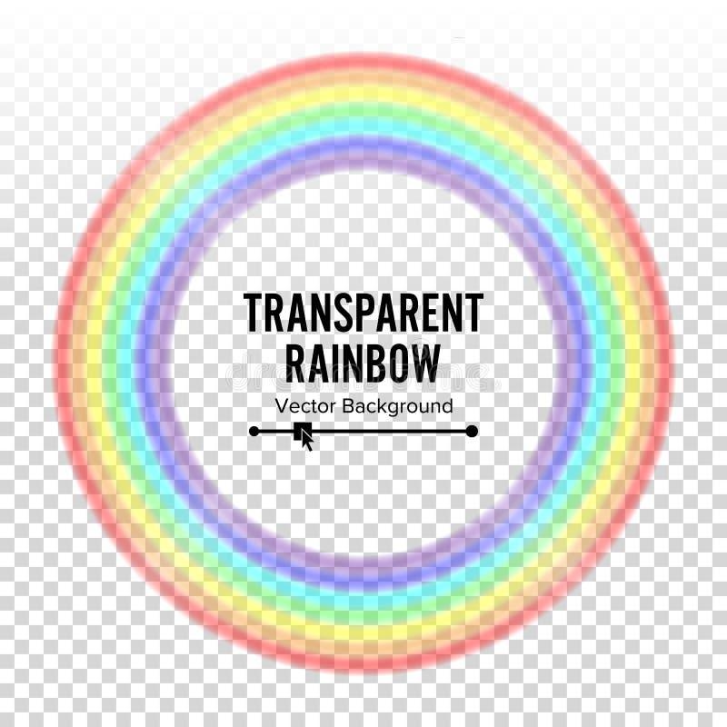 Vektor för regnbågecirkelbeståndsdel Färgspektrum Färgrik rund beståndsdel Bög homosexuellt symbol Abstrakt regnbågeillustration  royaltyfri illustrationer