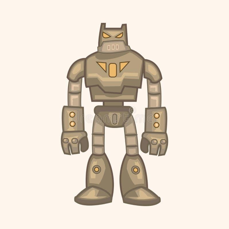 Vektor för robottemabeståndsdelar, eps stock illustrationer