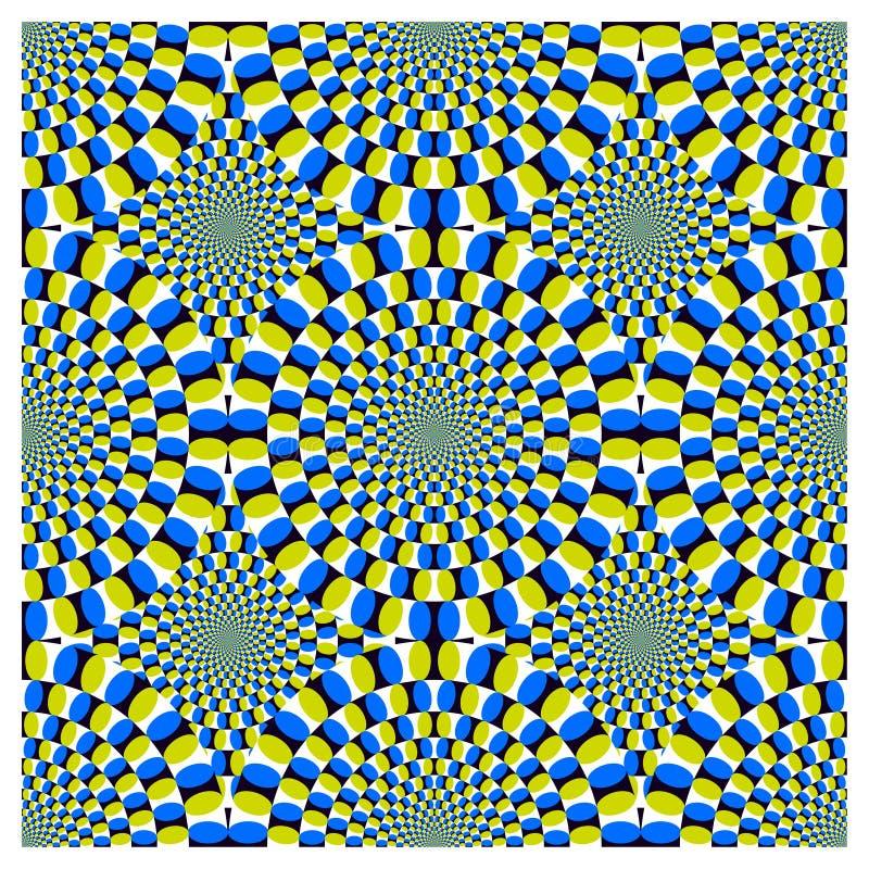 vektor för rotation för cirkuleringsillusion optisk stock illustrationer