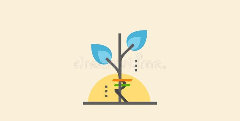 Vektor för rupiepengarväxt vektor illustrationer