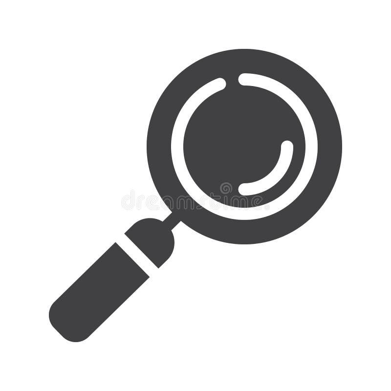 Vektor för sökandeförstoringsglassymbol royaltyfri illustrationer
