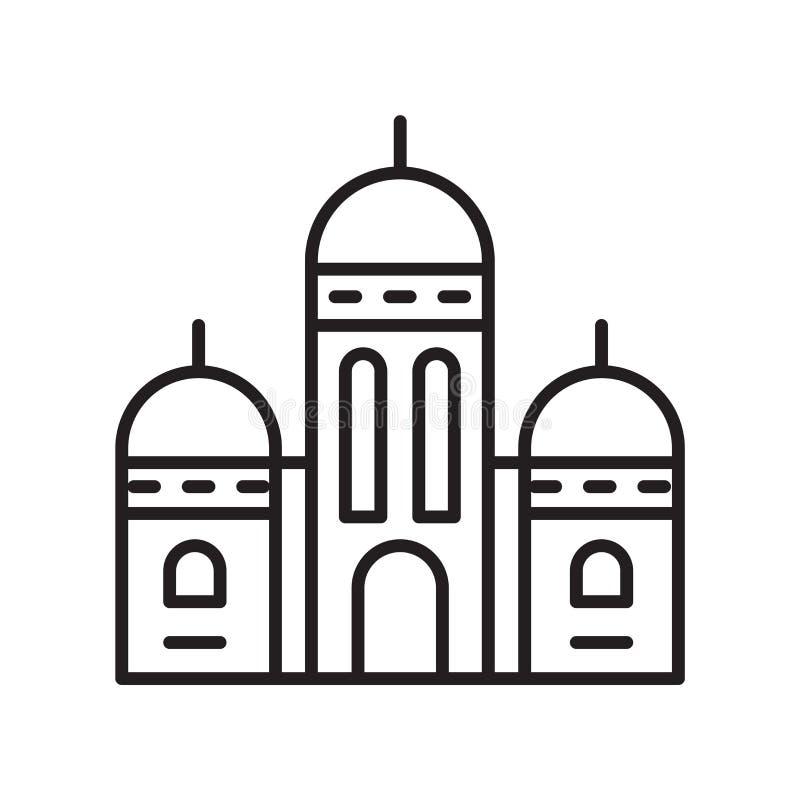 Vektor för Sacre coeursymbol som isoleras på vit bakgrund, Sacre coeurtecken, tunn linje designbeståndsdelar i översiktsstil vektor illustrationer