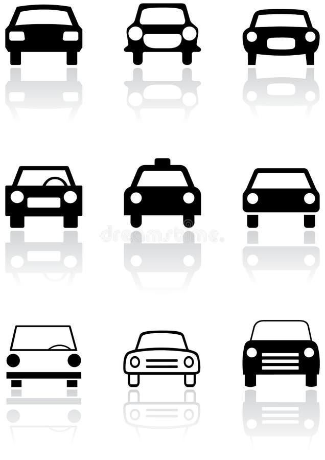 vektor för set symbol för bil royaltyfri illustrationer