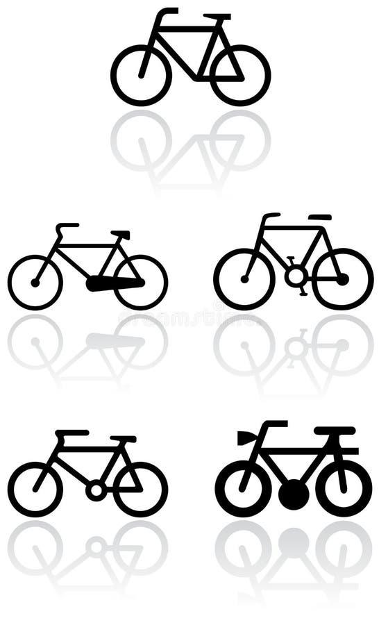 vektor för set symbol för cykel stock illustrationer