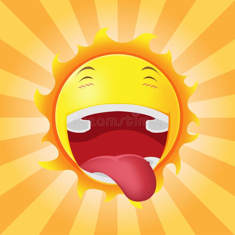 Vektor för sinnesrörelse för tecknad film för solframsida lycklig fotografering för bildbyråer