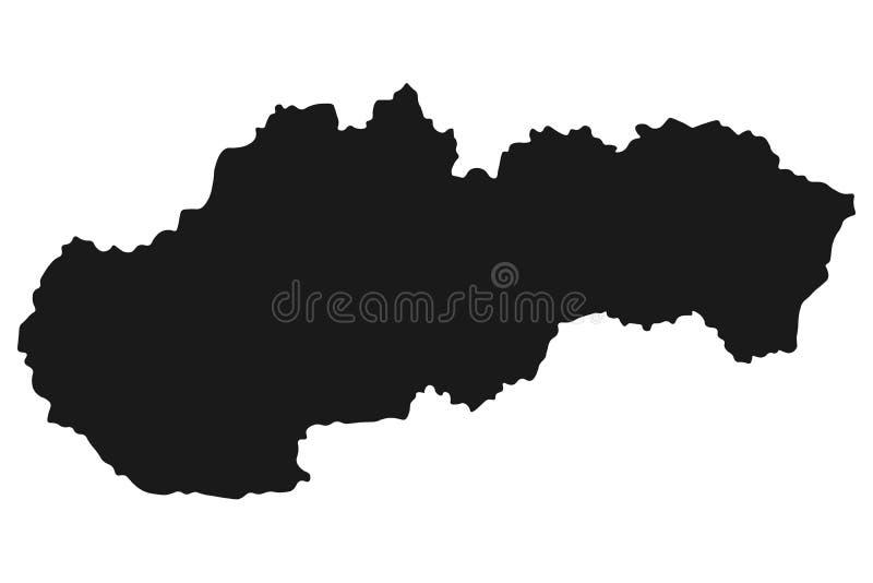 Vektor för Slovakien översiktsillustration Vit isolerad bakgrund vektor illustrationer