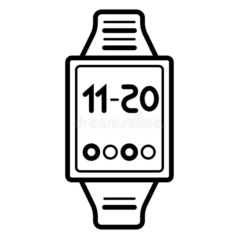 Vektor för Smartwatch klockaSmart översikt vektor illustrationer