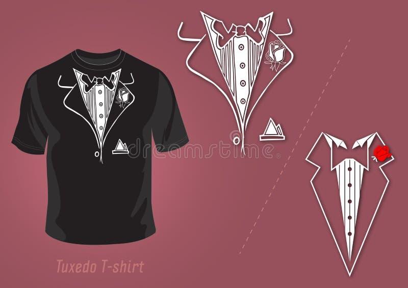 vektor för smoking för designskjorta t stock illustrationer