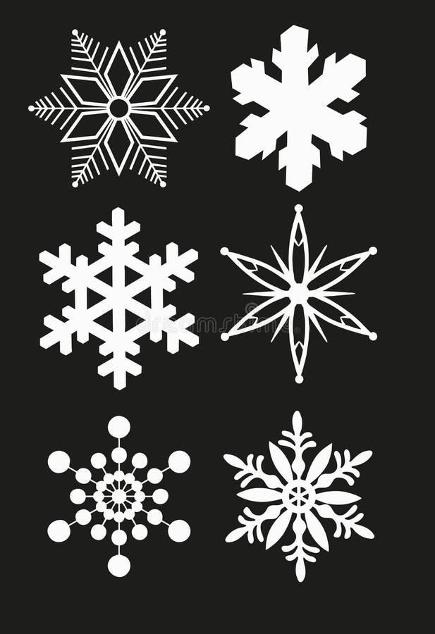 vektor för snowflake för bakgrundsblue set stock illustrationer