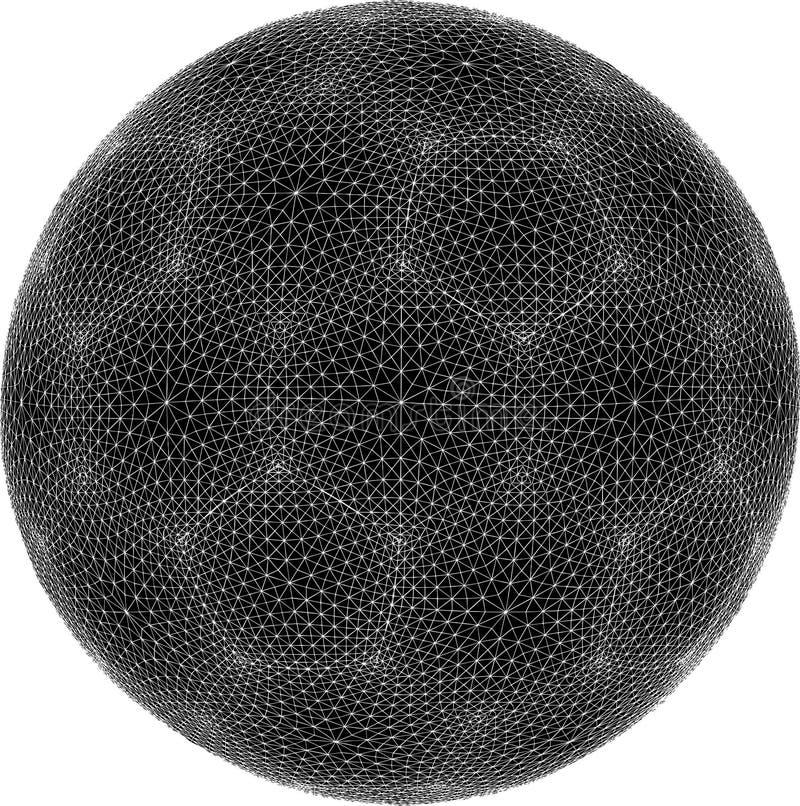 vektor för sphere för fotboll för fotboll för 01 boll netto stock illustrationer