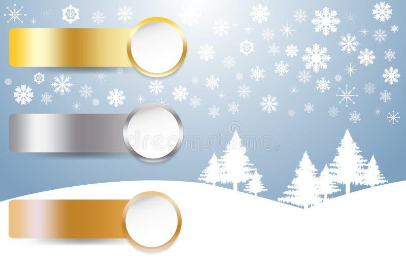 Vektor för sportrangmateriel i vinterlandskap stock illustrationer