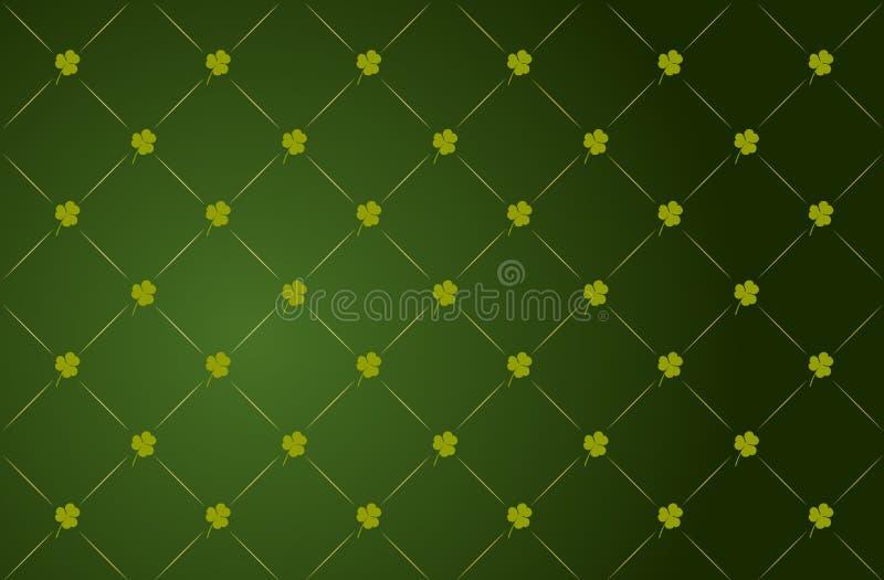 vektor för st för patricks för bakgrundsväxt av släkten Trifoliumdag royaltyfri illustrationer