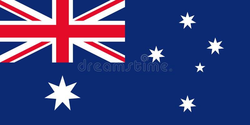 vektor för stil Australien för tillgänglig flagga glass australiensisk flagganational också vektor för coreldrawillustration stock illustrationer