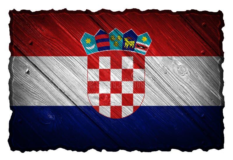 vektor för stil för tillgänglig croatia flagga glass royaltyfri fotografi