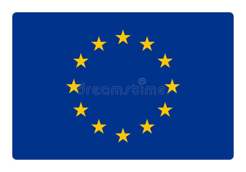 vektor för stil för tillgänglig Europa flagga glass vektor illustrationer
