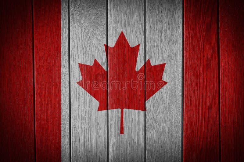 vektor för stil för tillgänglig Kanada flagga glass arkivbilder