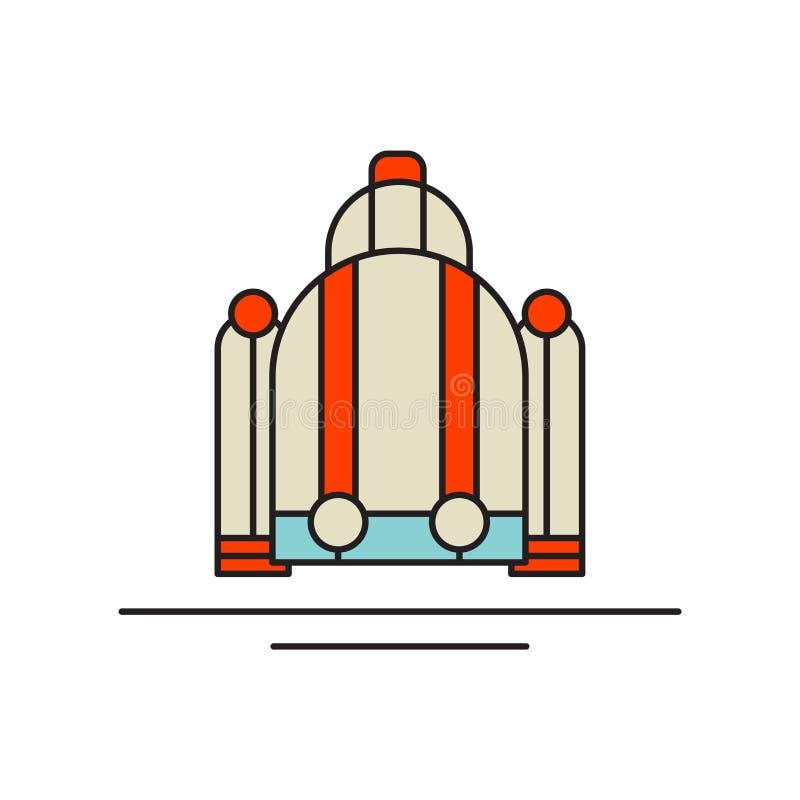 Vektor för strålpackesymbol som isoleras på vit bakgrund, strålpacketecken, teknologisymboler royaltyfri illustrationer