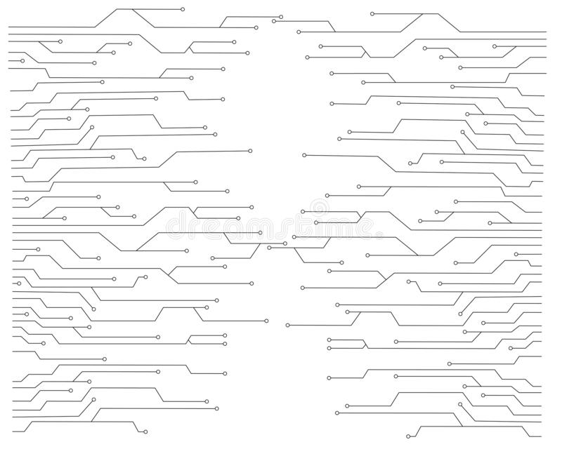 Vektor för strömkretsbräde royaltyfri illustrationer