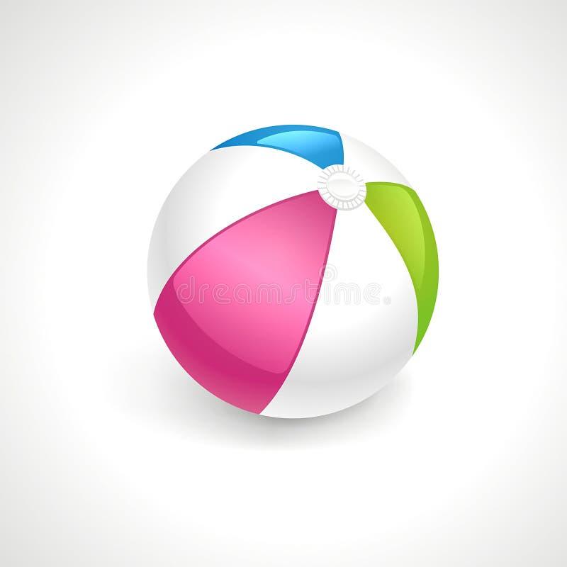 Vektor för strandboll royaltyfri fotografi