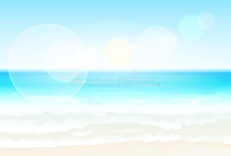 Vektor för suddighet för semester för sommar för strand för sand för havskust vektor illustrationer