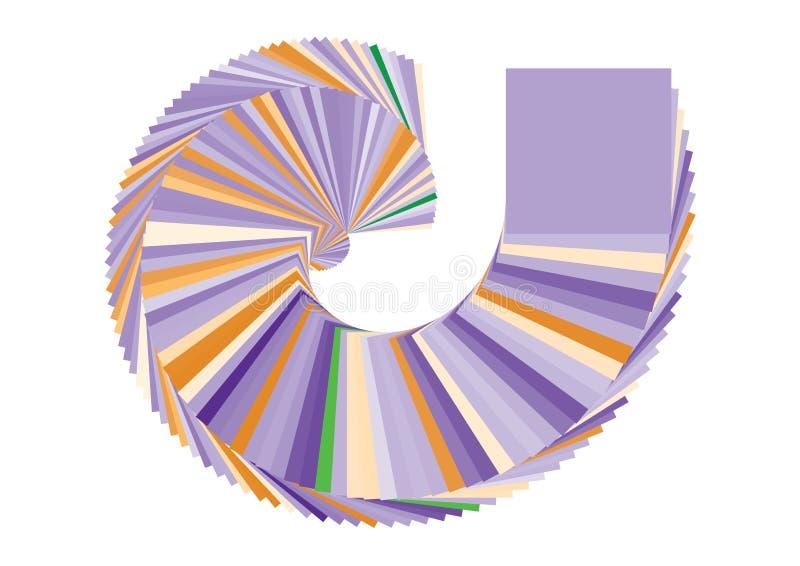 vektor för swirl för askfärgpatron royaltyfri illustrationer