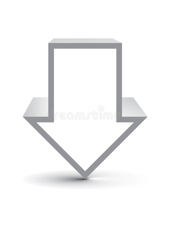 vektor för symbol 3d stock illustrationer